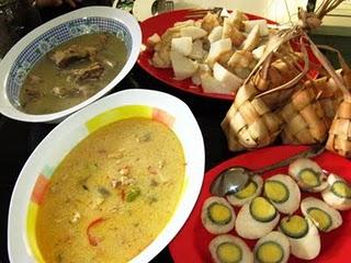 Ketupat yang menjadi hidangan khas Lebaran.